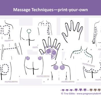 Childbirth Massage techniques Cards (pdf)