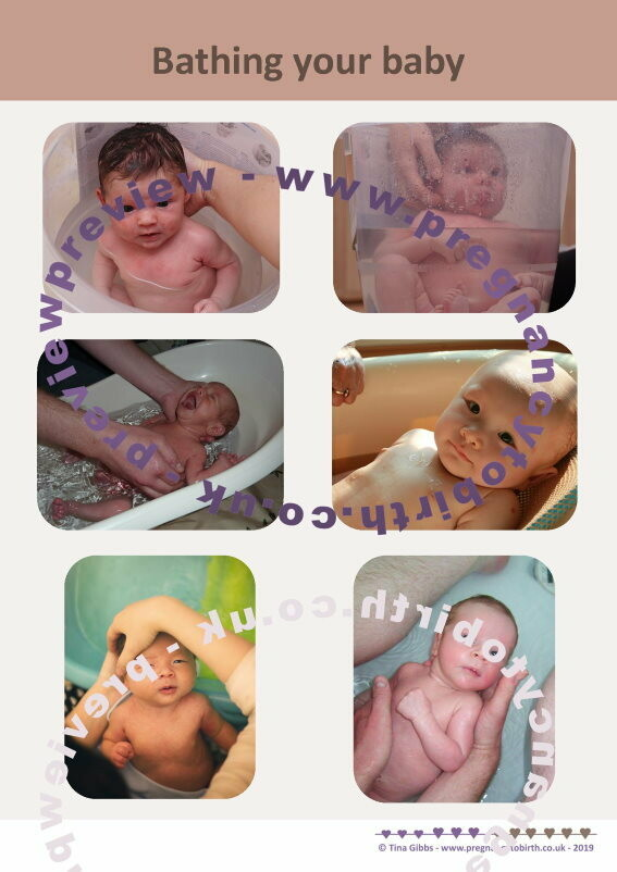 Bathing your baby A2 poster