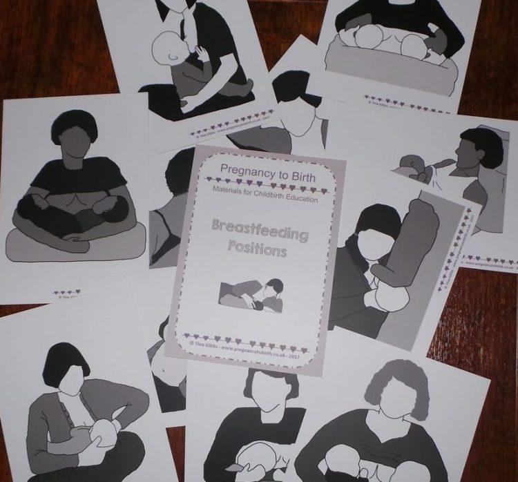 Breastfeeding Positions Cards