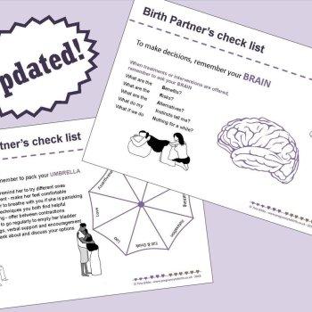 Birth Partner's checklist