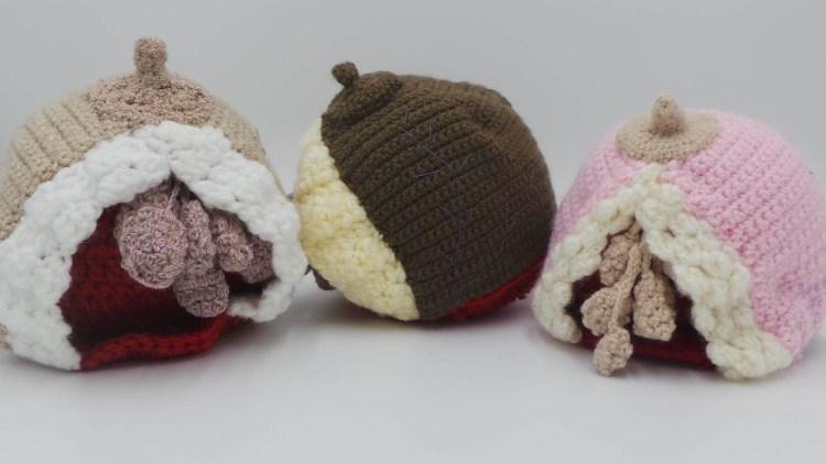 crochet anatomical breast model