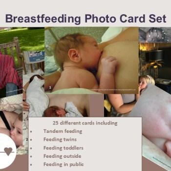 Breastfeeding photo card set