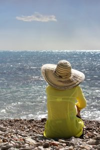 Woman looking at the sea