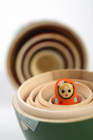 Russian doll inside others