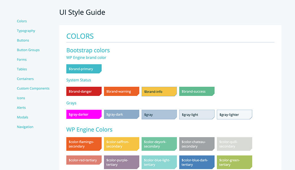Old portal bootstrap colors