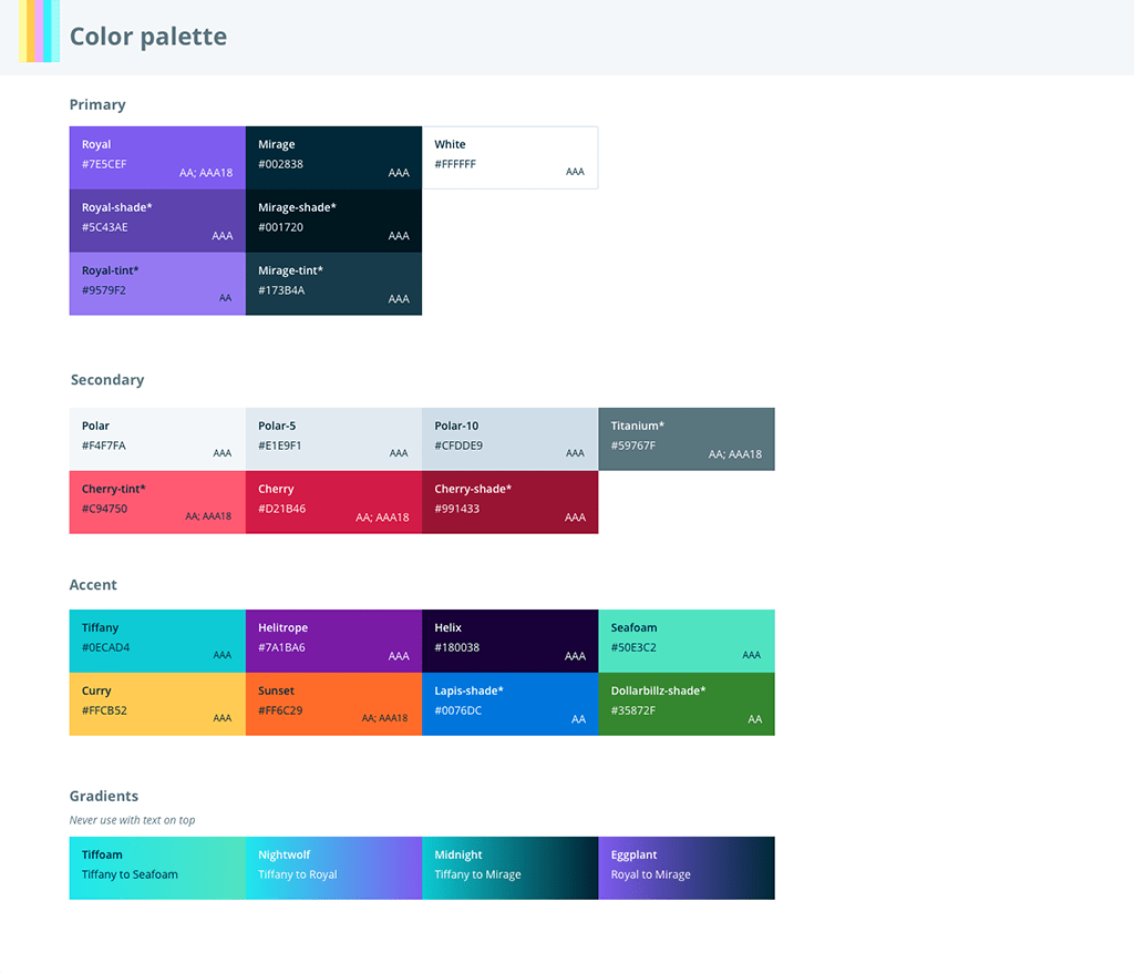 Accessible colors