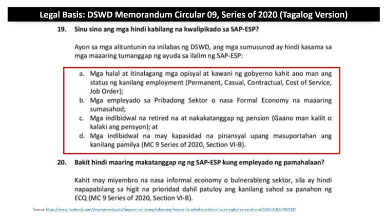 18 - DSWD Legal Basis for Rule B