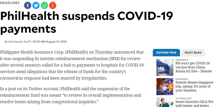 philhealth headline