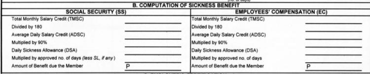 Sickness Computation