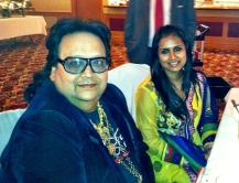Tina Kundalia with Bappy Lehri