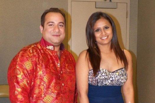 Tina Kundalia with Rahat Fateh Ali Khan