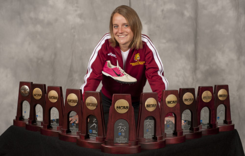 My photoshoot with my All-American Awards at the end of my college career- Photo Credit to Matt Yeoman and Bill Bitzinger