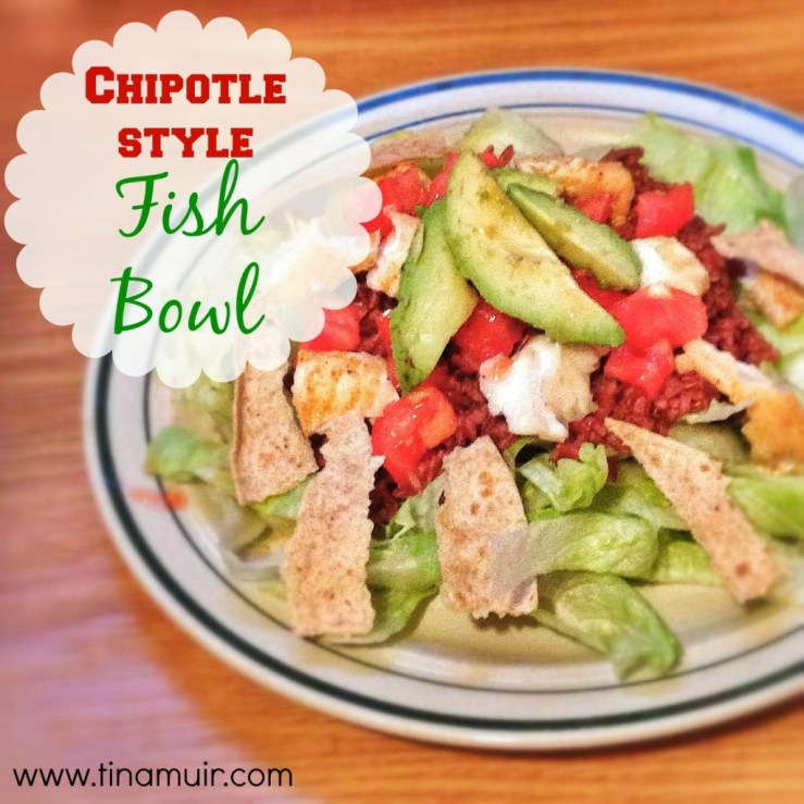 Chipotle Style Fish Bowls are delicious for an easy, nutritionally dense fuel for runners!
