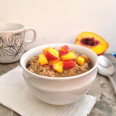 Peach Pie Steel Cut Oatmeal