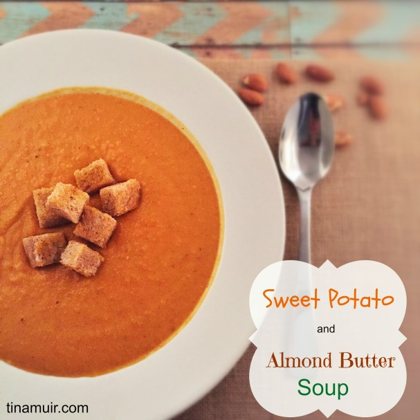 Elite runner Tina Muir shares a delicious, hearty, healthy soup to enjoy when it is cold outside. Almond butter gives this soup a great nutty taste, making it a great balanced meal.