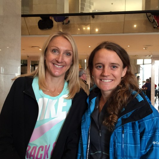 Tina and Paula Radcliffe