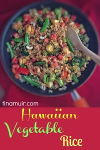 Great side dish to make you feel like you are in the tropics without actually being there. This summer dish is full of flavor, color, and nutrition with lots of healthy vegetables from elite runner Tina Muir.