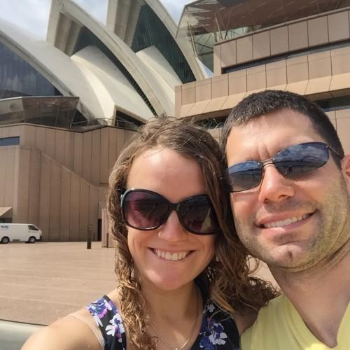 Steve Tina Sydney Opera House