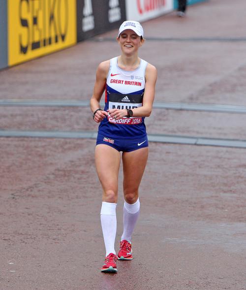 Tina Muir Elite Runner Finish Race