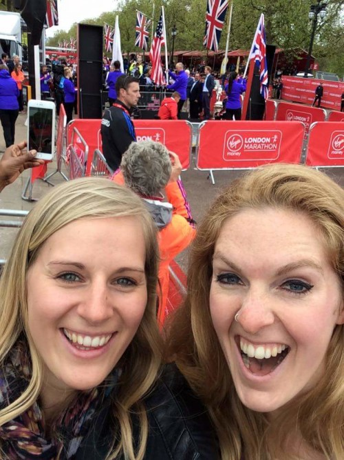 When your friends manage to get themselves at the finish near Prince Harry!