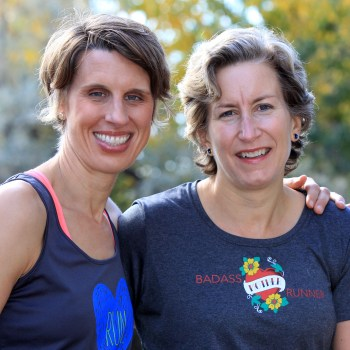 Founder of Another Mother Runner Sarah Bowen-Shea and Dimity McDowell