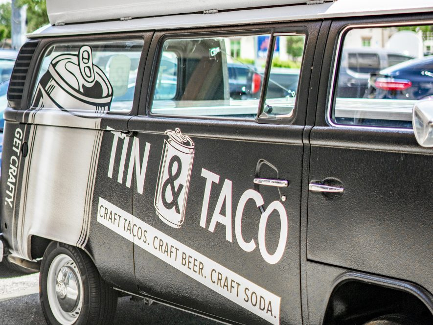 Tin and Taco Catering Van