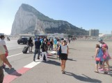 Crossing the boarder and Airport runway from Spain to Gibraltar.