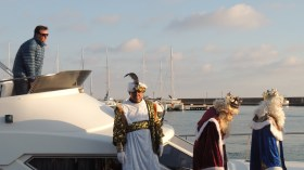 Los tres Reyes arrived @Almerimar