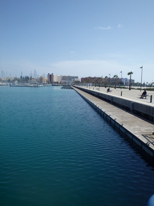 Alcaidesa, the La Linea Marina just 1km from Gibraltar. Clearly designed for the future having hundreds of yacht berths not yet in use.