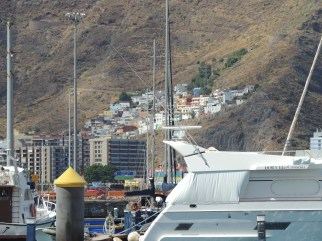 View from Santa Cruz Tenerife Marina
