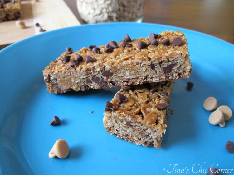 13Peanut Butter Chocolate Chip Granola Bars