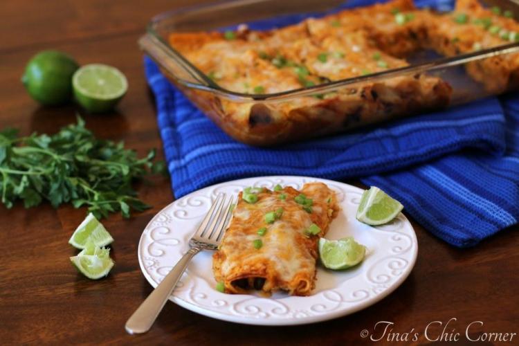 06Black Bean and Cheese Enchiladas