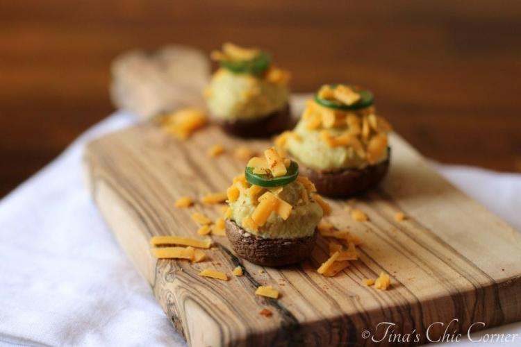08alapeno Hummus Stuffed Mushrooms