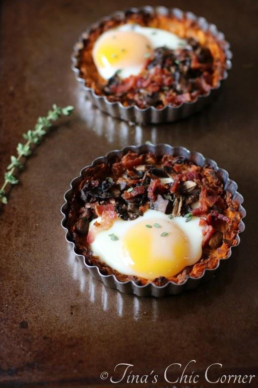 01Mushroom, Bacon, and Egg Tart With Sweet Potato Crust