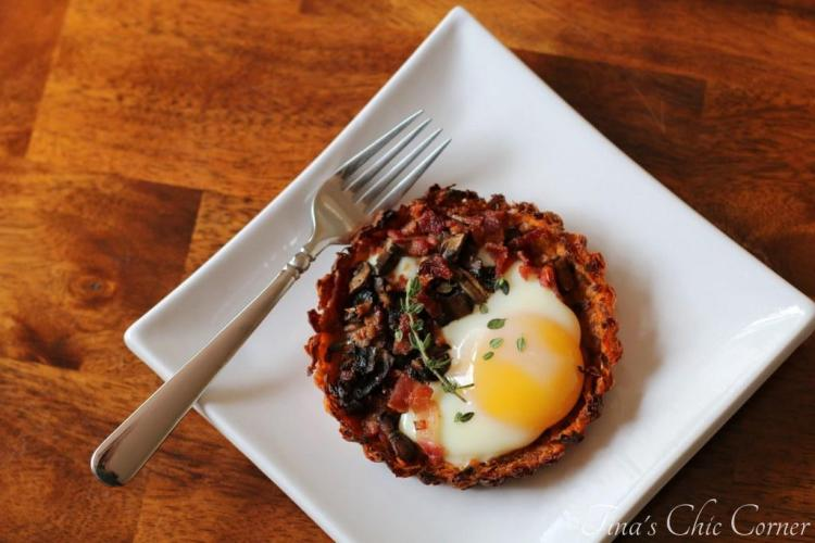 02Mushroom, Bacon, and Egg Tart With Sweet Potato Crust