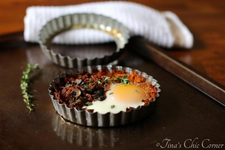 04Mushroom, Bacon, and Egg Tart With Sweet Potato Crust