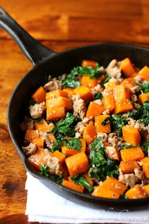 02Butternut Squash, Kale, and Sausage