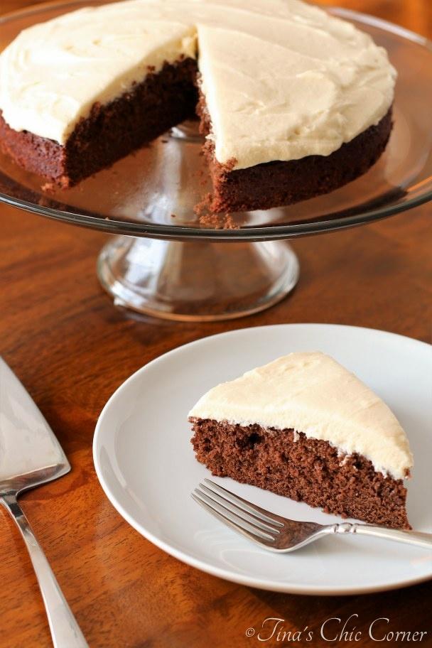 One Layer Chocolate Cake – Tina's Chic Corner
