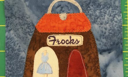 Block-A-Day 58 – Frocks And Flowers