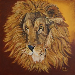 Lion on Canvas