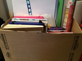 Amazon Box to keep all my notebooks and sketchpads