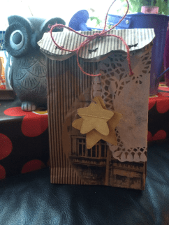 Paper gift bag from shopping bag