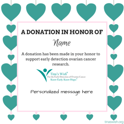Ovarian Cancer Donation For Early Detection Research