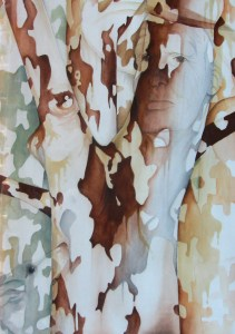 Bush camouflage painting