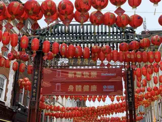 Chinese lanterns in Chinatown London