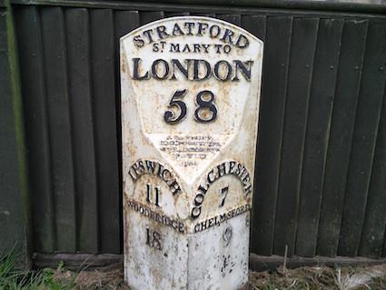 Stratford St Mary Mile Marker