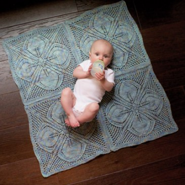 dogwood baby blanket