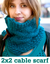 2 x 2 button scarf