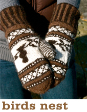 birds nest mittens