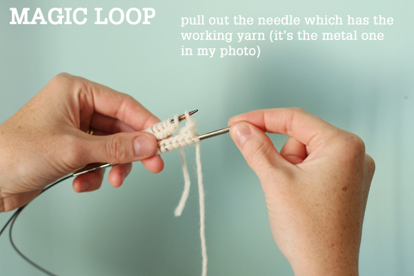 274440a073d2 Magic Loop Technique – how to knit in the round using a single long ...